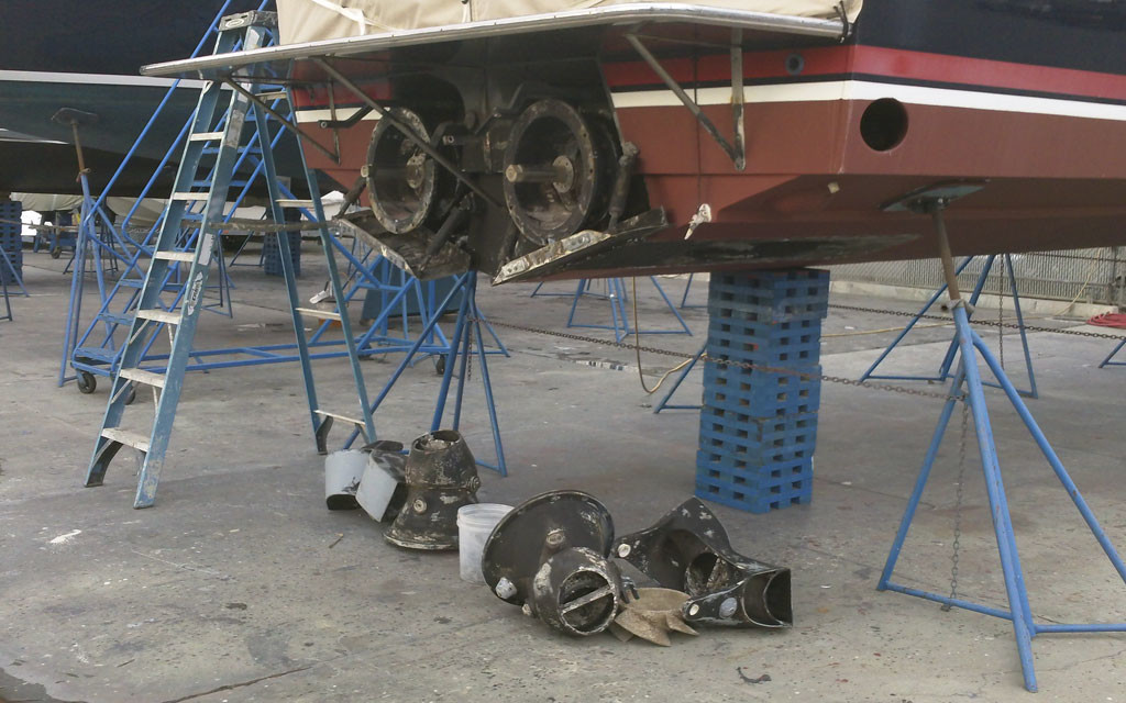 Rolls-Royce-Jet-Drive-Dismantled-Harbor-MarineWorks-Santa-Barbara-CA